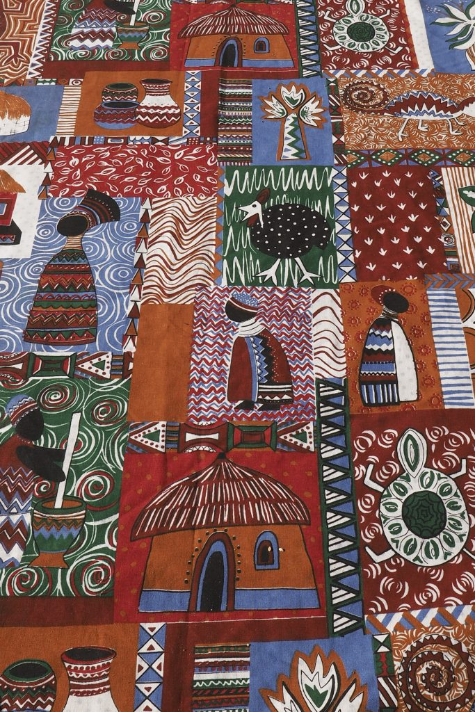 colorful south african fabrics with pattern