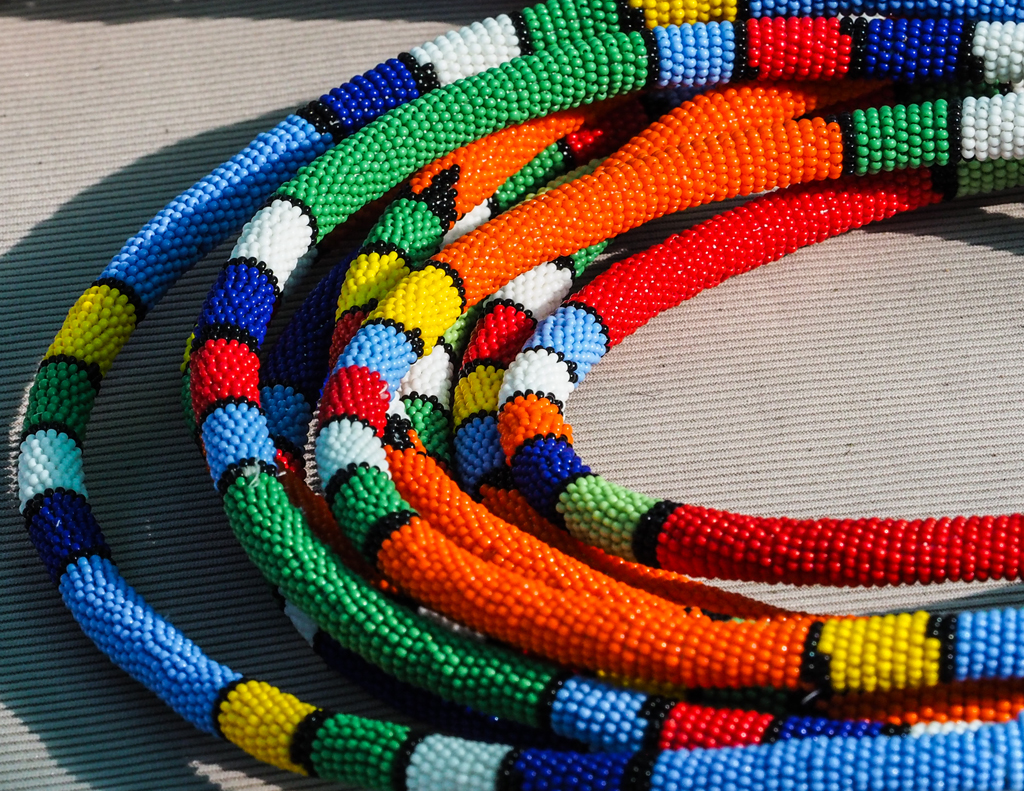 colorful pearl jewelery south african people and culture